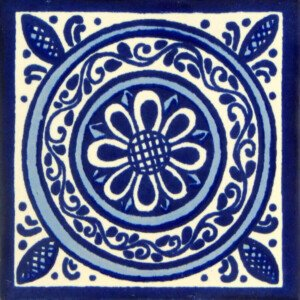 Blue Medallon Mexican Ceramic Tile