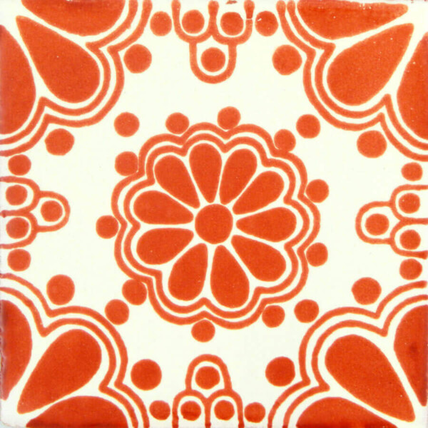 Lace Terracotta Mexican Ceramic Tile