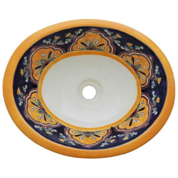 Cupula Mexican Bathroom Ceramic Oval Talavera Sink