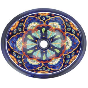 Mazatlan Mexican Bathroom Oval Talavera Sink