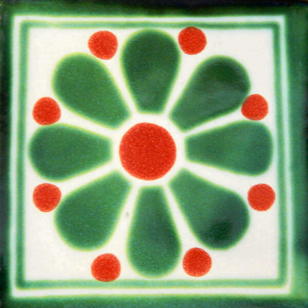 Daisy May 5 Mexican Talavera Ceramic Tile