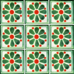 Daisy May 5 Mexican Talavera Ceramic Tile