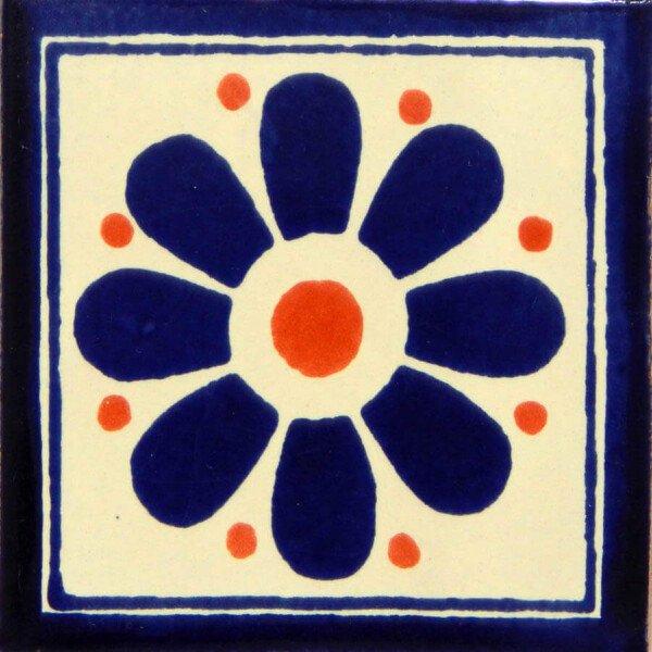 Daisy May 6 Mexican Ceramic Talavera Tile