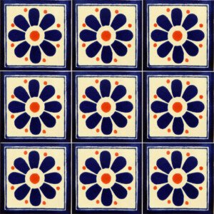 Daisy May 6 Mexican Ceramic Talavera Tile