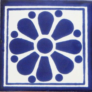 Daisy May 7 Mexican Ceramic Talavera Tile