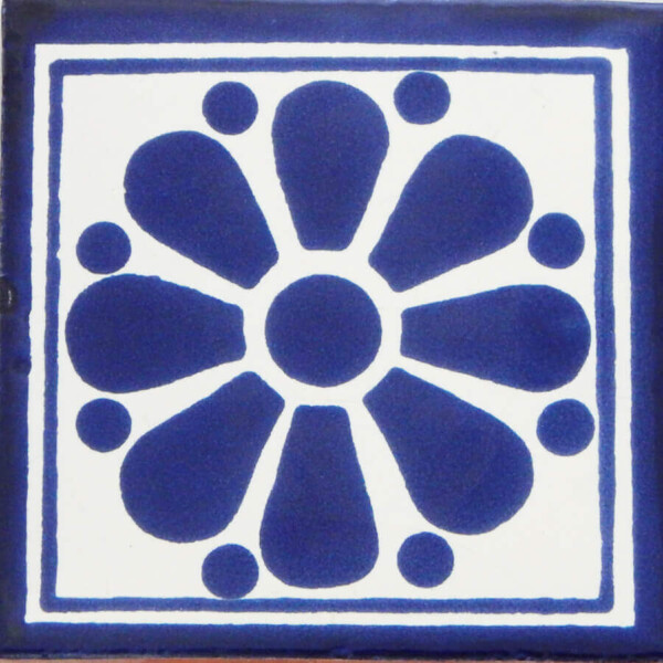 Daisy May 7 Mexican Ceramic Talavera Tile