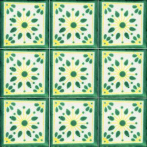 Green Jardin Mexican Ceramic Talavera Tile