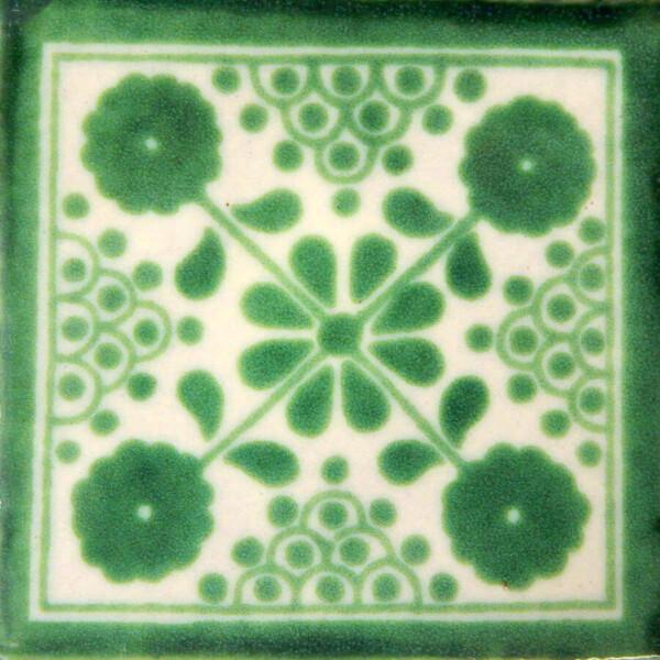 Damasco 1 Mexican Ceramic Folk Art Decorative Tile