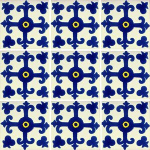 Valencia Mexican Folk Art Handmade Talavera Tile