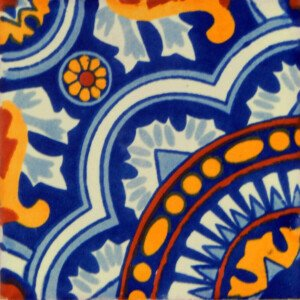 Rosario Corner Mexican Ceramic Talavera Tile Decorative Folk Art