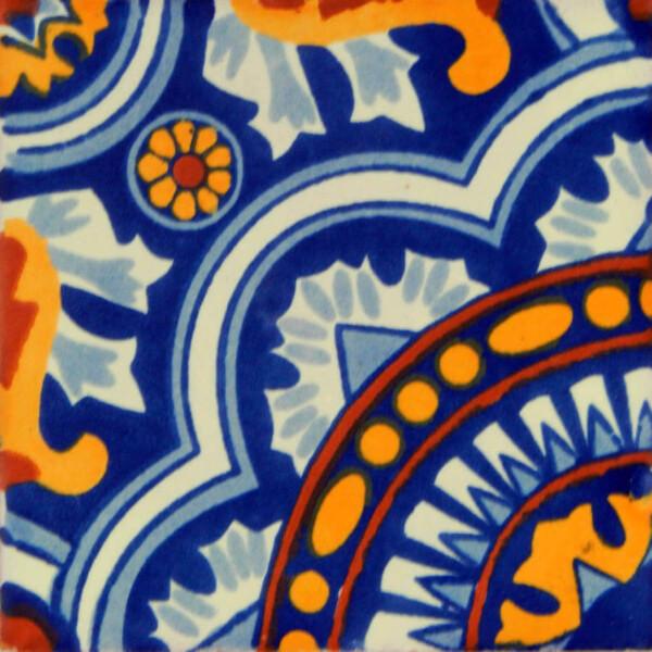 Rosario Corner Mexican Ceramic Talavera Tile Decorative Folk Art