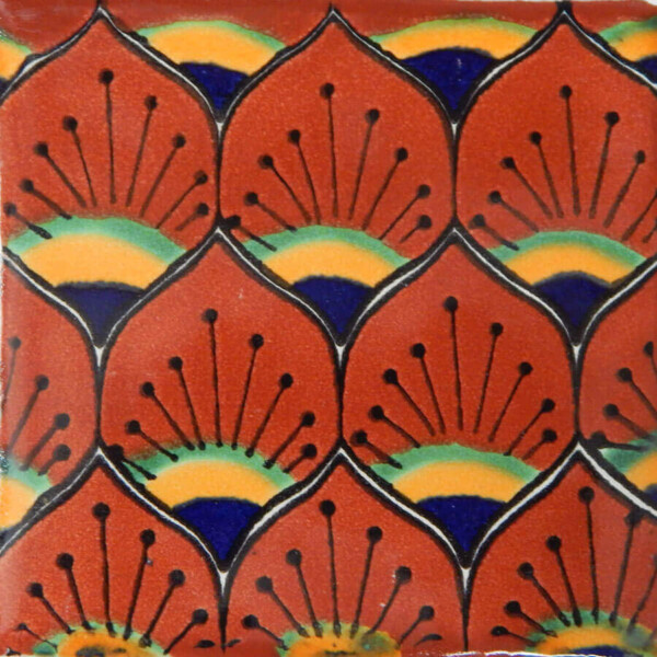 Pavo Terracotta Mexican Ceramic Decorative Tile