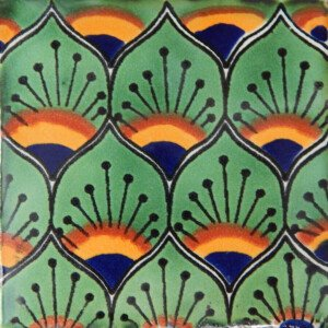 Pavo Green Mexican Talavera Decorative Tile