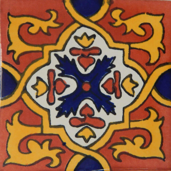 Granada Terracotta Mexican Ceramic Decorative Tile