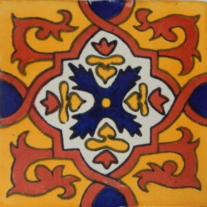 Granada II Mexican Ceramic Talavera Decorative Tile