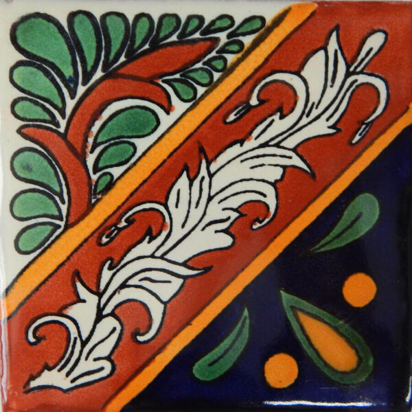 Morelia Mexican Ceramic Talavera Tile