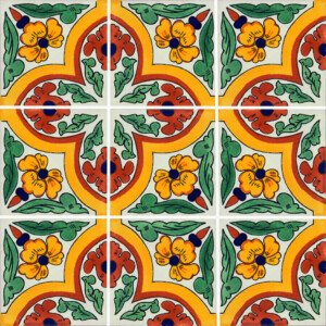 Primavera Mexican Ceramic Border Tile