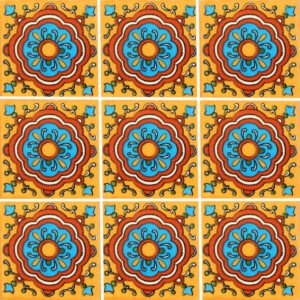 Cupula Yellow Mexican Ceramic Tile