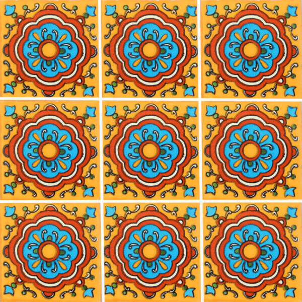 Awesome 1 Inch Hexagon Floor Tiles Thin 12 X 12 Ceramic Tile Rectangular 12X24 Floor Tile Designs 16X16 Ceiling Tiles Youthful 1X1 Ceiling Tiles Soft2 X 4 Ceiling Tile Cupula Yellow Mexican Ceramic Tile Are Handmade In Mexico