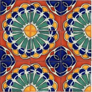 Siempre Viva Mexican Ceramic Talavera Border Tile