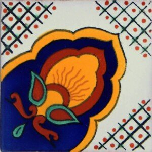 Amanecer Corner Mexican Talavera tile Decorative