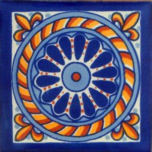 Cuerda Blue Mexican Talavera Decorative Tile