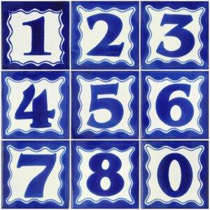 Mexican Ceramic Decorative House Number Folk Art Tile