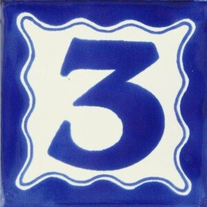 Mexican Ceramic Handmade House Number Tile