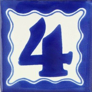 Mexican Ceramic House Number Decorative Tile