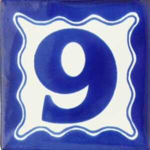 Mexican Ceramic Folk Art Decorative House Number tile