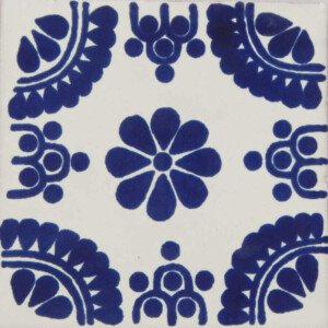 Madrid Blue Mexican Talavera Decorative Tile