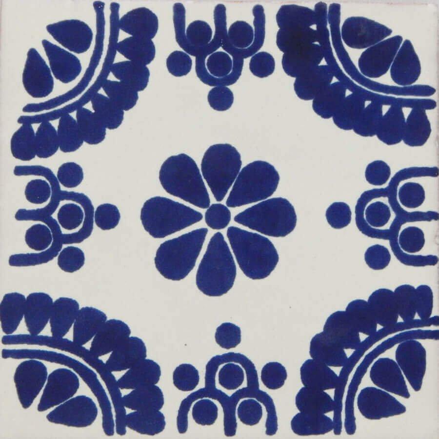 Madrid Blue Mexican Talavera Decorative Tile