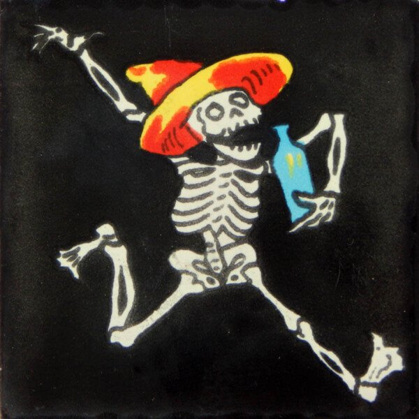 Mexican Dia de Los Muertos Handmade Day of The Dead Decorative Tile