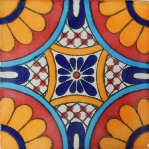 Tabuada II Mexican Decorative Talavera Handmade Tile