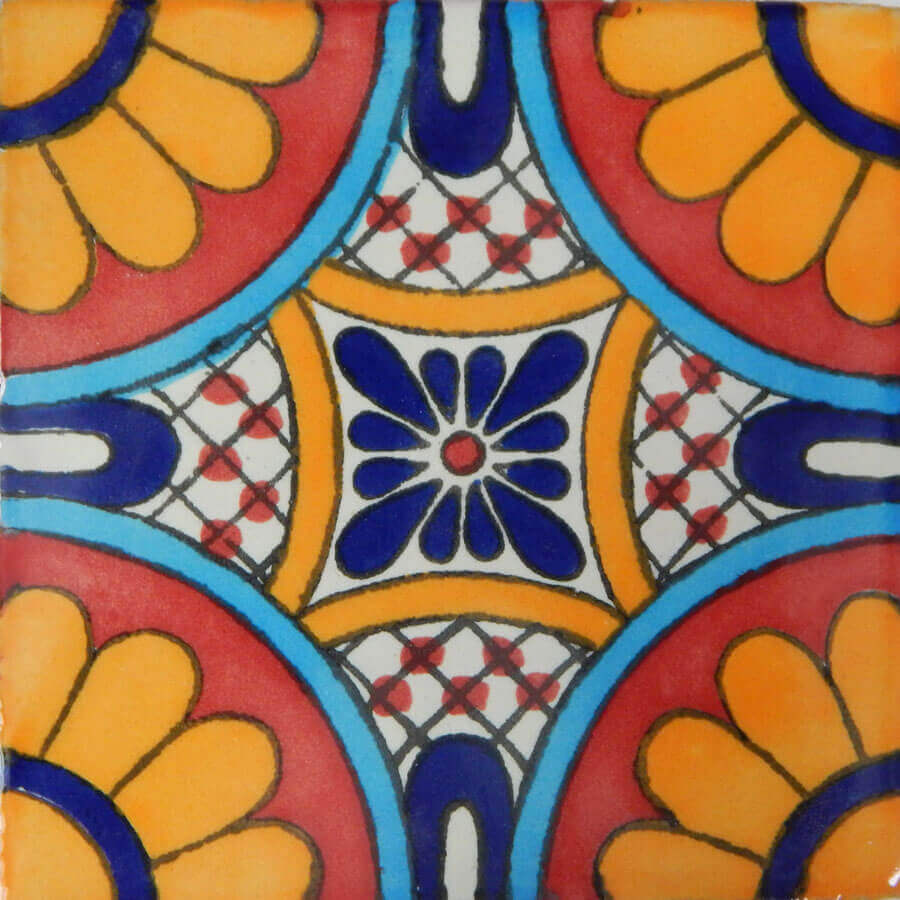 Tabuada II Mexican Decorative Talavera Handmade Tile