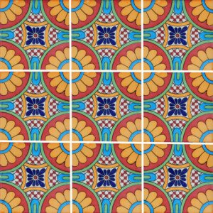 Tabuada Mexican Ceramic Decorative Talavera Tile