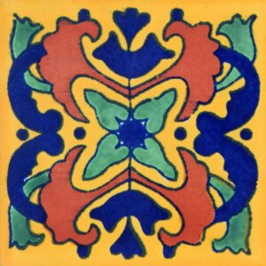 Azalea Mexican Ceramic Folk Art Talavera Tile