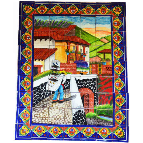 Mexican Talavera Mosaic Mural Tile Handmade Selling Birds Backsplash