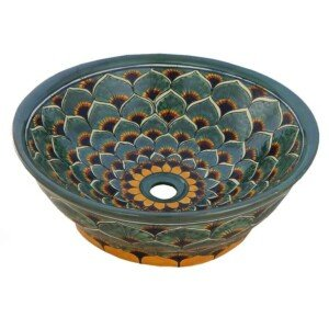 Pavo Verde Mexican Vessel sink Bathroom wash basin