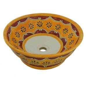 Arabesque Mexican Vessel Sink Bathroom Wash Basin
