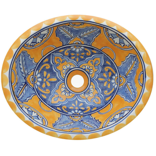 Cola de dragon Bathroom Ceramic Oval Talavera Sink