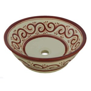 Grecas Mexican Vessel Sink Bathroom Wash Basin