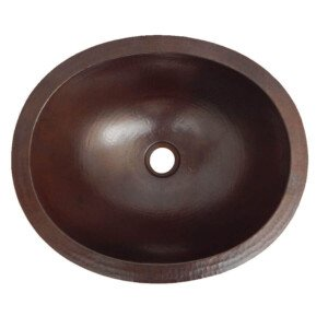 Dark Oval Mexican Copper Bathroom Sink