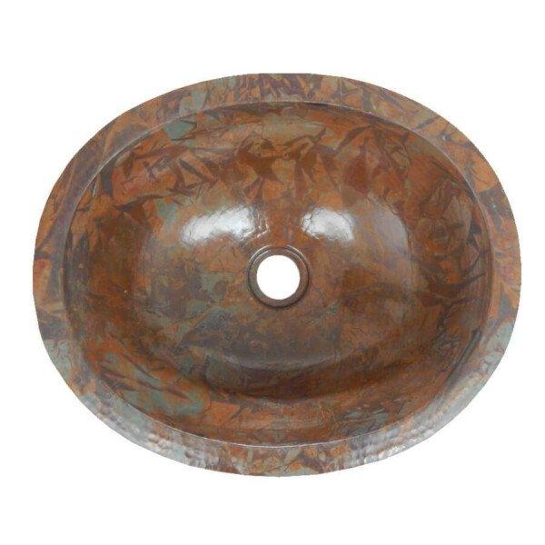 Rag Oval Mexican Copper Bathroom Sink