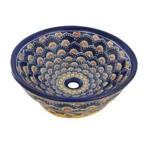Pavo Denim Mexican Vassel Sink Bathroom Wash Basin
