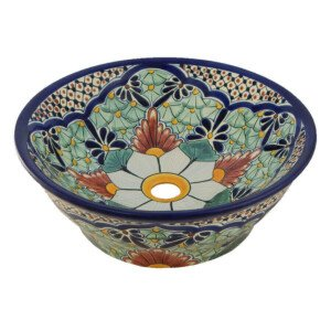 Portugues Mexican Vessel Sink Bathroom Wash Basin