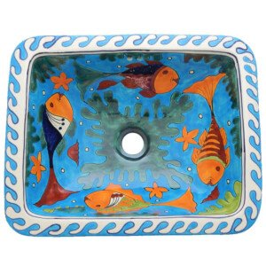 Rosarito Fish Mexican Bathroom Ceramic Rectangle