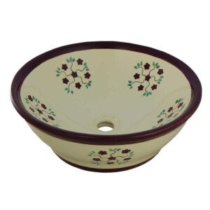 Small Bouquet Mexican Vassel Sink Bathroom Wash Basin