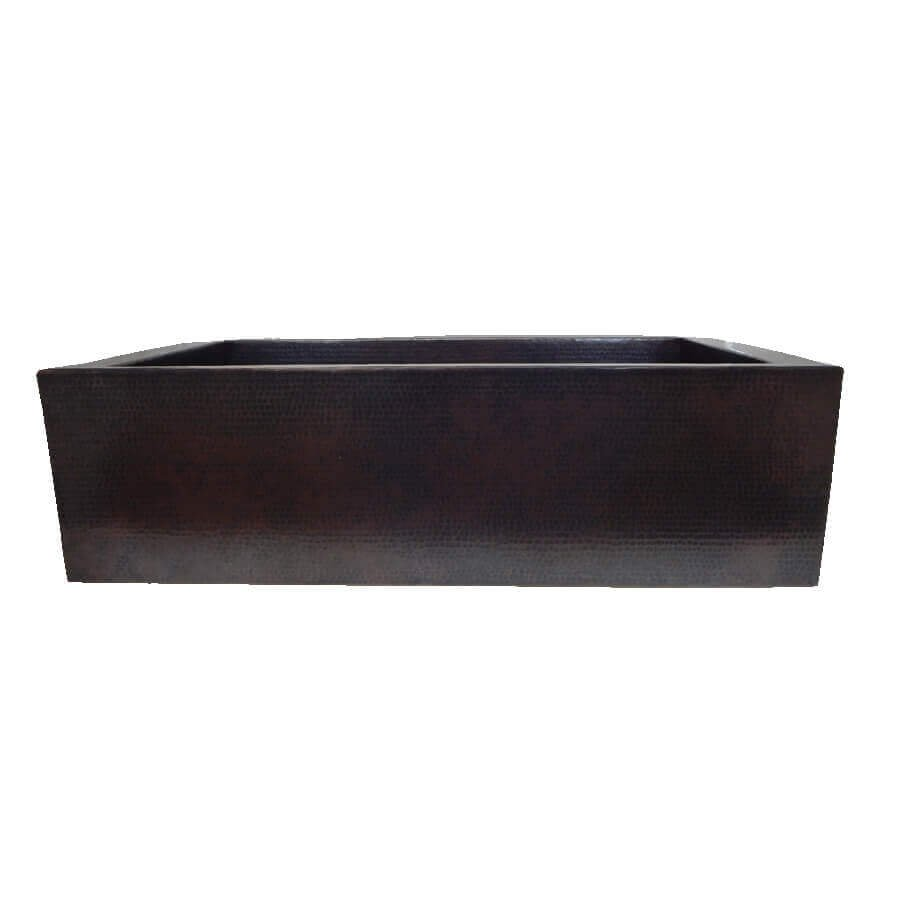 Farmhouse Copper Kitchen Copper Sink Inclined Apron Front Single Bowl Mexican