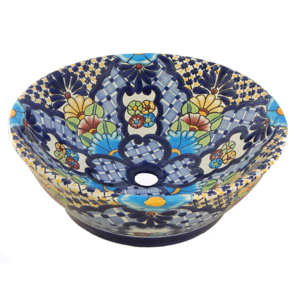 Villanova Mexican Vessel Sink Bathroom Wash Basin